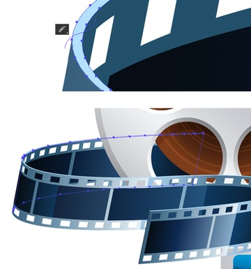 rearrange the parts of the film tape