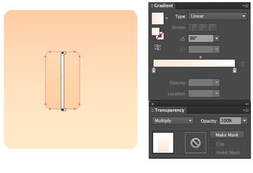 form a nose with Rounded Rectangle Tool