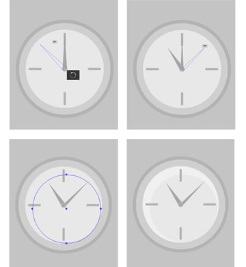 add clock hands