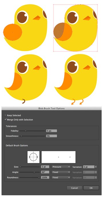 make the wing and add legs with blob brush tool