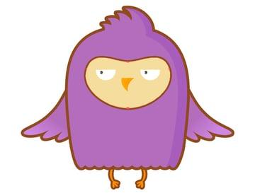 outline the grumpy owl