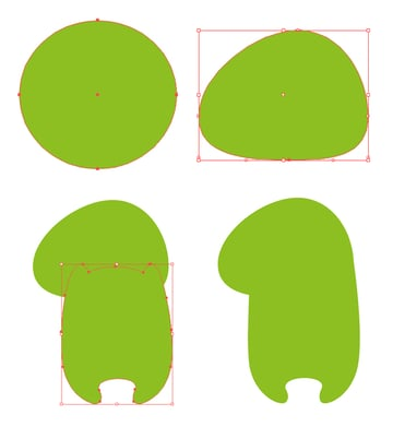 form the dinosaur body base