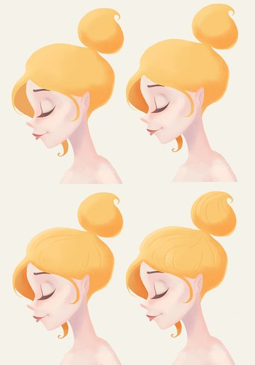 Continue painting the hair