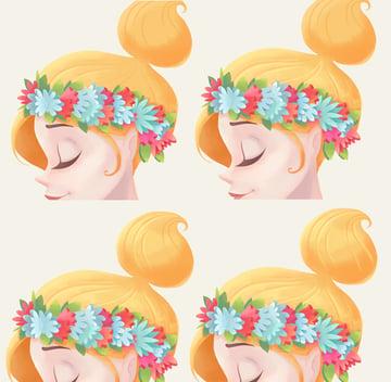 add thin light-yellow strokes along the hair locks