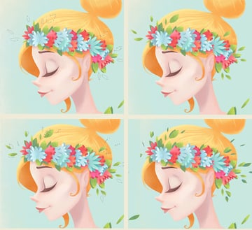 add leaves to the head wreath