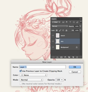 create clipping mask layer