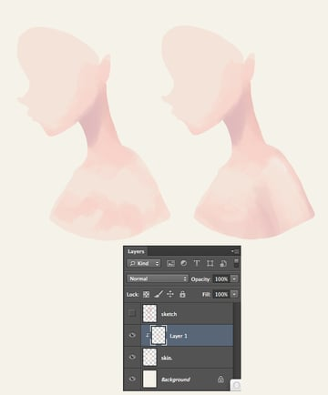 Add more shadows gradually sculpting the body