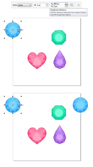 make a square canvas and duplicate the gem