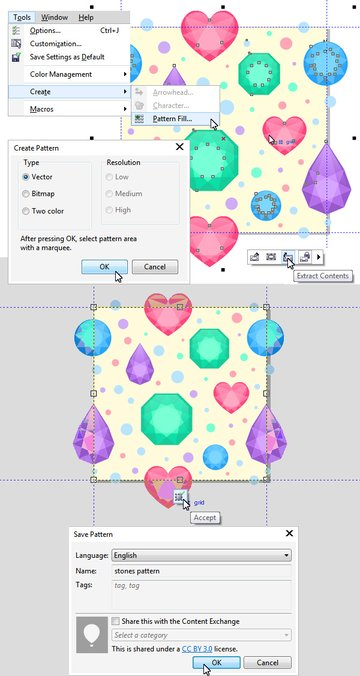 create pattern fill