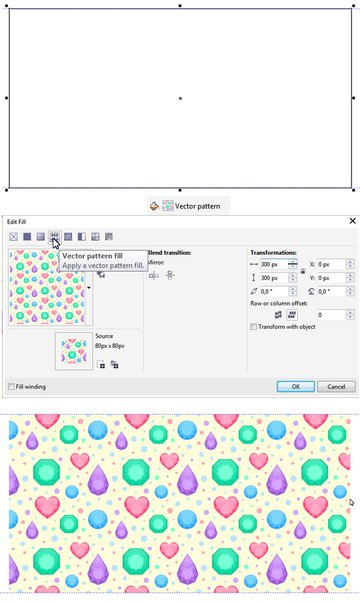 apply our new pattern fill to a shape