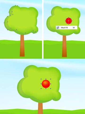 make a red apple base