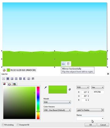 add a darker grass shape