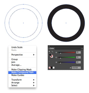 make compound path from circles