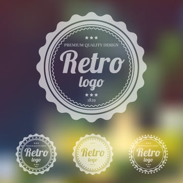 final image of retro logo on a blurred vector background