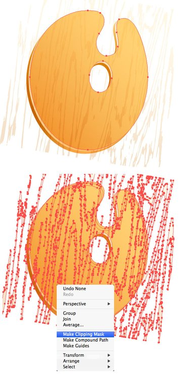 Make Clipping Mask for the texture
