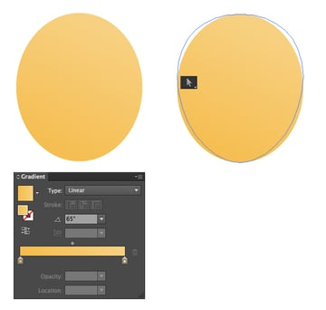 make a slightly squashed elliptical shape for the base
