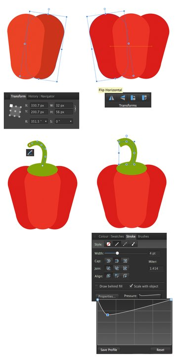 add more copies to form the bell pepper