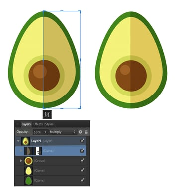 use Vector Crop Tool and cut off the shadow
