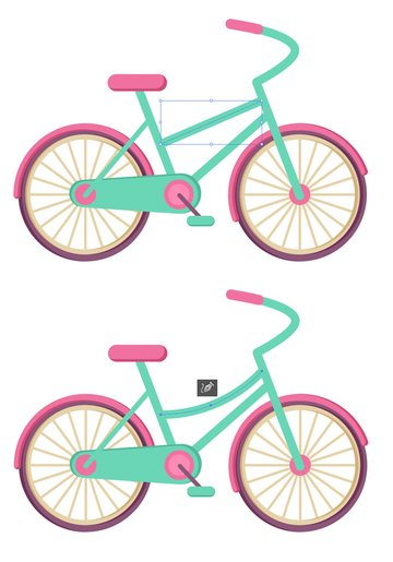 add more tubes to connect the parts of the bicycle