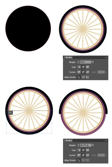 create a fender from a circle 1