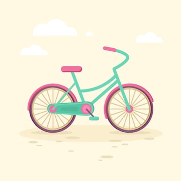 cute flat girls bicycle is finished