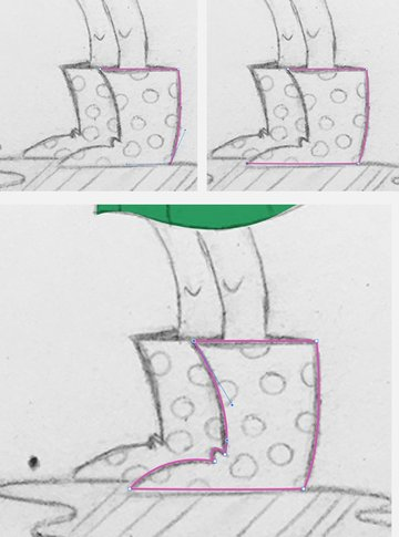 Take the Pen Tool P and outline the gumboot