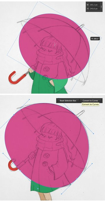 make an umbrella with the ellipse tool 1