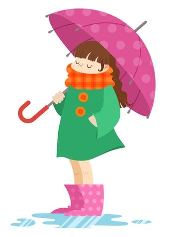 Apply polka-dot pattern to the umbrella