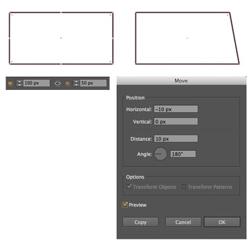 start forming the chassis of the van from a 100x50 px rectangle