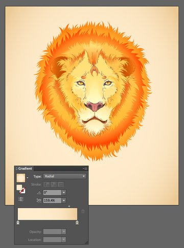 add a background with radial gradient