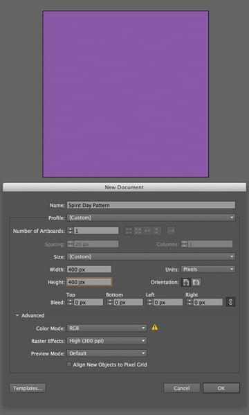 make a purple background