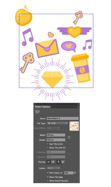 use pattern tool to combine the elements