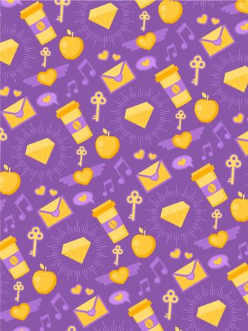 spirit day purple seamless pattern