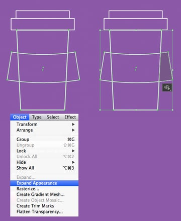 use shape builder tool to delete the pieces
