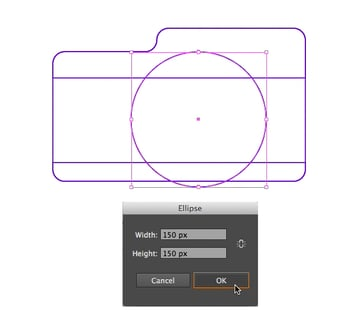 start making the lens from a circle