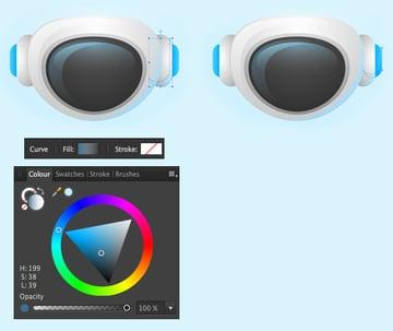 add semi-transparent light-blue overtones