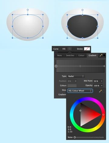 copy the shape and make a dark screen