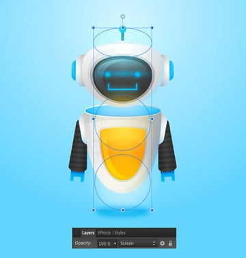 add more glowing shapes with Gaussian Blur