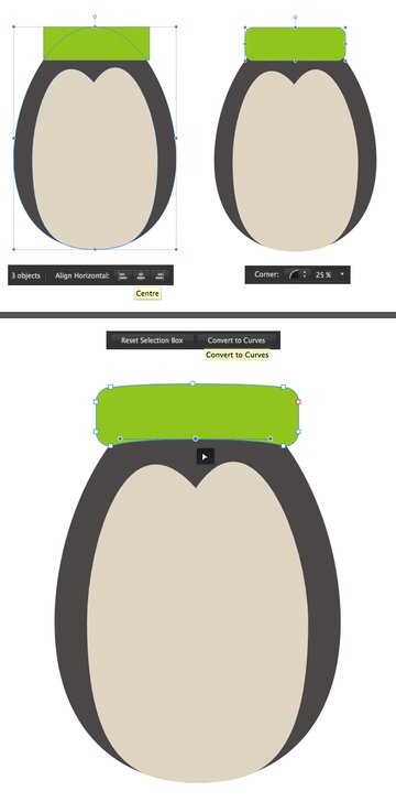 make a hat with the rectangle tool