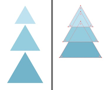 make a fir tree from triangles