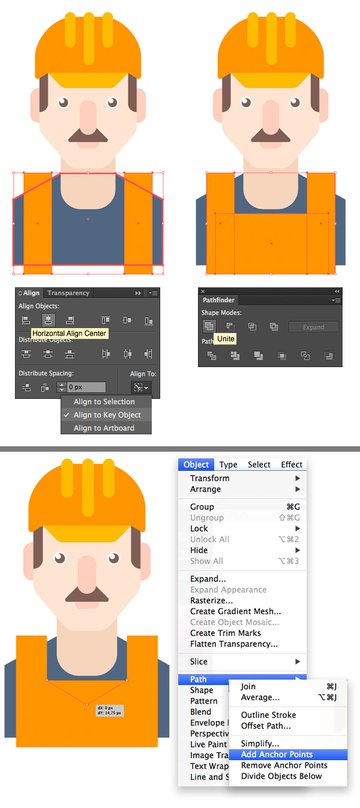 make a uniform from rectangles