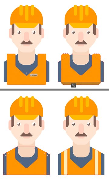 edit the uniform with the Shape Builder Tool