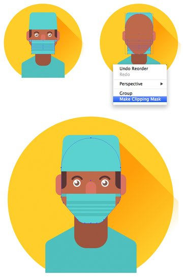 add mask to the surgeon