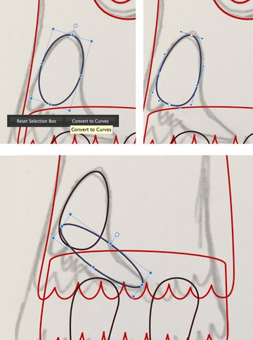 make arm from ellipses