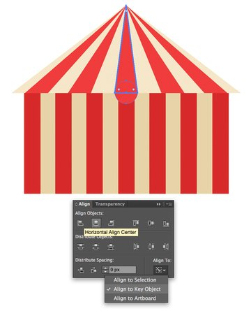 add circle details to the tent
