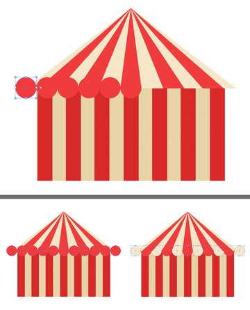 add circle details to the tent 3