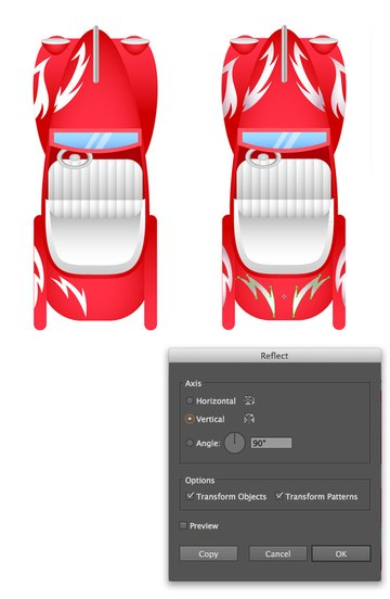 add patterns to the car