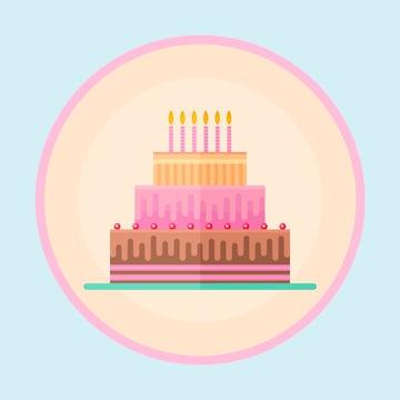 Flat Festive Birthday Cake is finished
