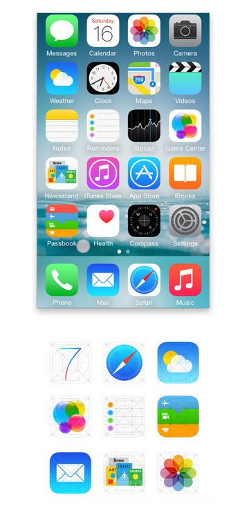 apple flat design