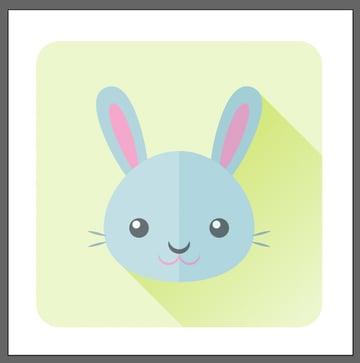 finish up the bunny icon